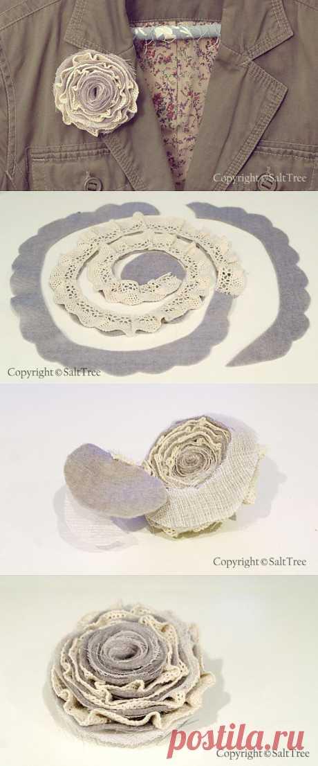 Винтажная роза-брошь своими руками…   Магический декор