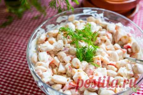 Простой салат с фасолью - рецепт с фото - FoodForLife