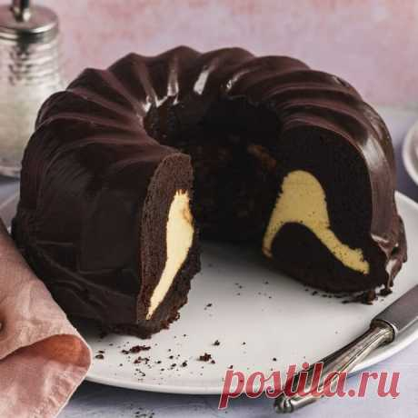 """Шоколадный кекс с начинкой """"Чизкейк"""""""