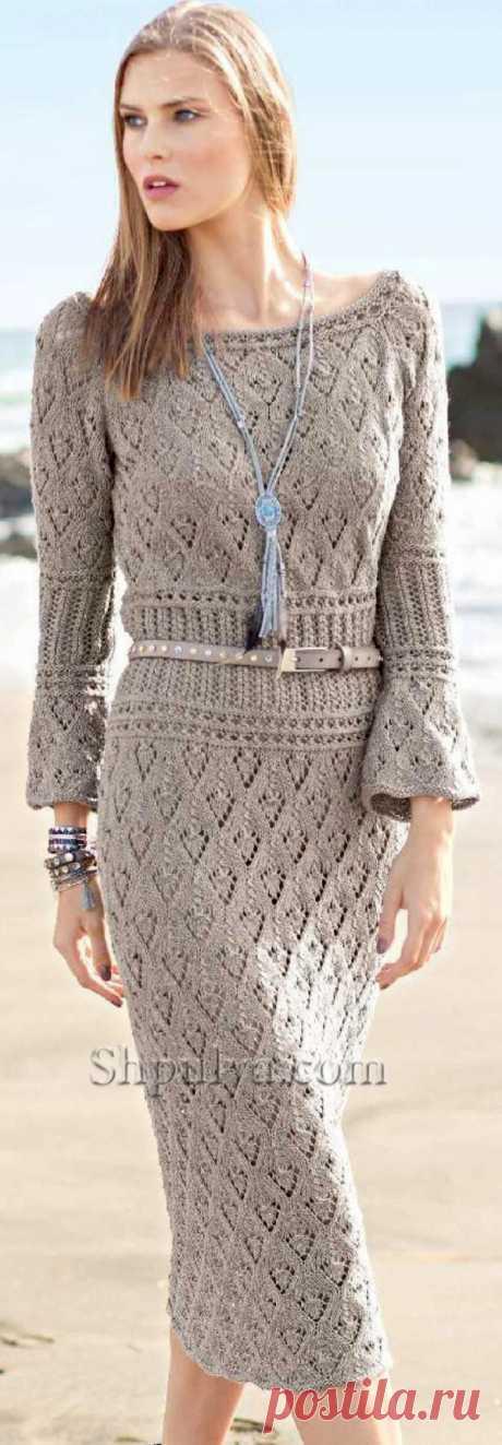 Ажурное платье с сочетанием узоров - SHPULYA.com