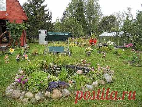 Ландшафтный дизайн на даче. Фото