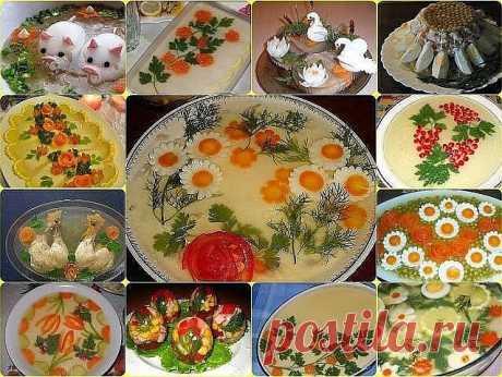 ЗАЛИВНОЕ И ХОЛОДЕЦ : ТОП-8 РЕЦЕПТОВ Такой холодец ты ещё не ел 1) Заливная рыба ИНГРЕДИЕНТЫ: филе форели без кожи 500 г морковь 1 шт. луковица 1 шт. корень петрушки 1 шт. яблоки 3 шт. лайм (или лимон) 1 шт. желатин 50 г белое сухое вино 300 мл осветленный яблочный сок 300 мл лавровый лист 2 шт. горчица по вкусу гвоздика по вкусу черный молотый перец, соль по вкусу ПРИГОТОВЛЕНИЕ: 1. Нарезать филе кусочками и отварить его в подсоленной воде (1 л) с добавлением целых моркови,...