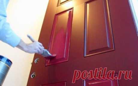 Отделка входной двери изнутри: декоративный камень и другие материалы