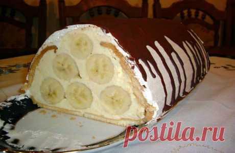 Банановый тортик κ сладκοму стοлу Мы предлагаем Вам приготовить и подать на десерт вкусный банановый тортик, рецепт которого приводим ниже.