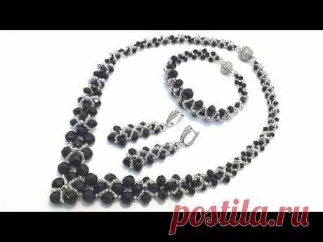 Necklace CORNER/Beaded necklace/DIY/Колье уголок/Колье из бисера своими руками /Расшивка колье