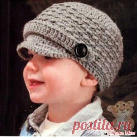 . Теплые шляпка и кепка девочке, связанные крючком - Вязание - Страна Мам