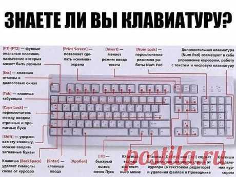 Что стоит знать о клавишах на клавиатуре
