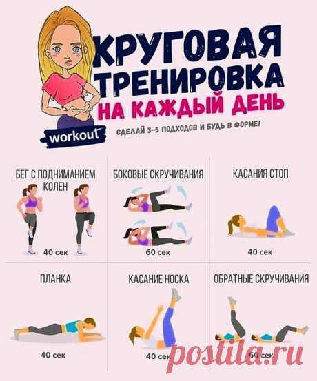Простая и быстрая круговая тренировка для поддержания формы на каждый день