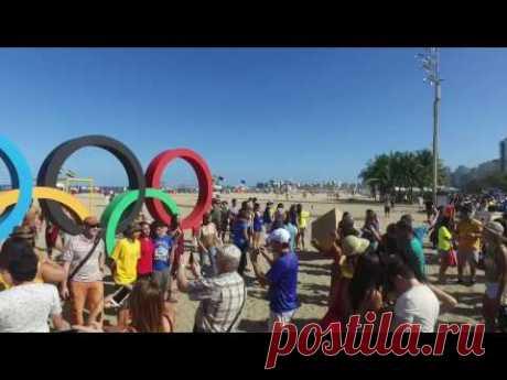Tiesioginės transliacijos pamoka iš Rio de Žaneiro Copacabana paplūdimio