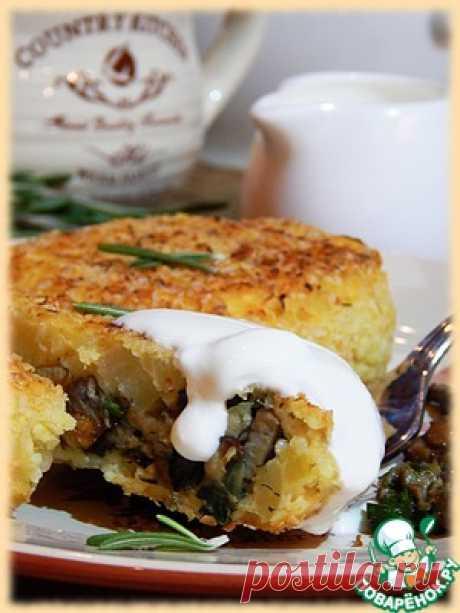 Пшенно-картофельные зразы с грибами - кулинарный рецепт