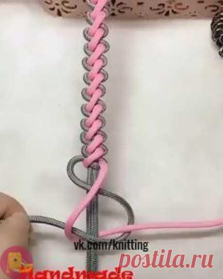 Плетение шнура - ручки для сумок