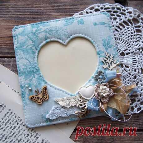 Скрапоголики: Сердечная рамочка для фото