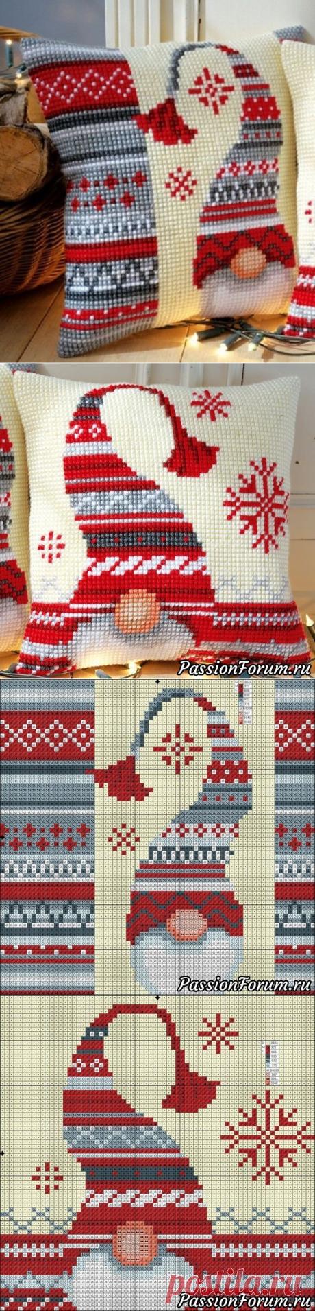 Las almohadas navideñas - la anotación del usuario vikanika (Victoria) en la comunidad el Bordado en la categoría del Esquema del bordado por la cruz, el bordado por la cruz