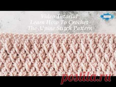 How To Crochet The Alpine Stitch   Video Tutorial by Crafting Happiness Large