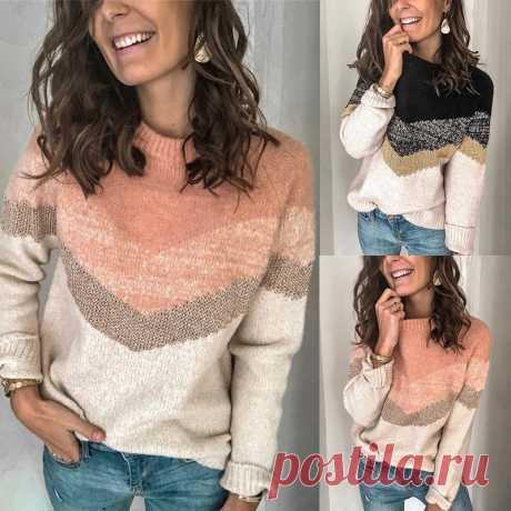 Женский осенний свитер Argyle, модный Свободный пуловер с длинными рукавами и круглым вырезом, повседневный утолщенный пуловер с рукавами реглан, новые женские топы  Детские жаккарды| роспись по ткани | готовые выкройки |