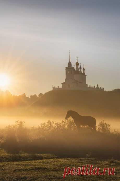 Начало нового дня в селе Епифань, Тульская область. Фотограф – Полина Лавриненко (nat-geo.ru/community/user/228963/). Доброе утро! В Москве идет снегопад, а в Епифанье — солнце и воздух 18 градусов!