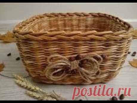 #7 Корзинка Меланж Мастер-класс от А до Я  DIY Newspaper Basket Weaving Tutorial ENGLISH SUBTITLES