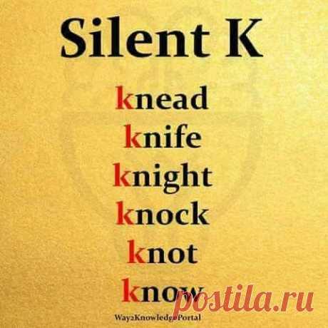 Silent K