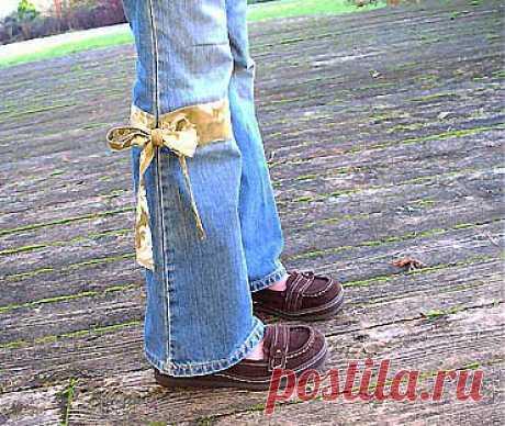 / Для детей /удлиняем джинсы
