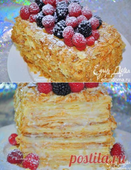 La torta Napoleón en sloenoem el test de Pera Erme
