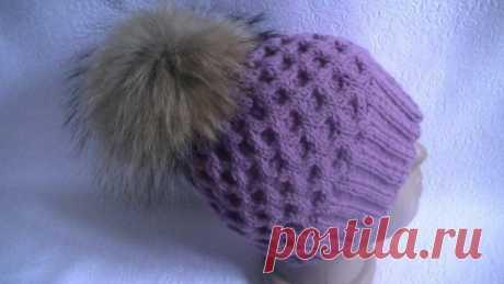 Как связать модную шапку спицами, пошаговое описание, подбор модели