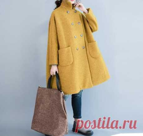 Women wool overcoat Wool winter Coat double breasted Coat   Etsy 【Fabric】  wool, polyester 【Color】 Yellow, dark blue, light gray 【Size】 Shoulder width is not limited Shoulder + sleeve length 63cm/ 25 Bust 140cm/ 54 Big arm circumference 35cm/ 14 Length 83cm / 32 The hem is 156cm/ 60  Washing & Care instructions: -Hand wash or gently machine washable do not tumble