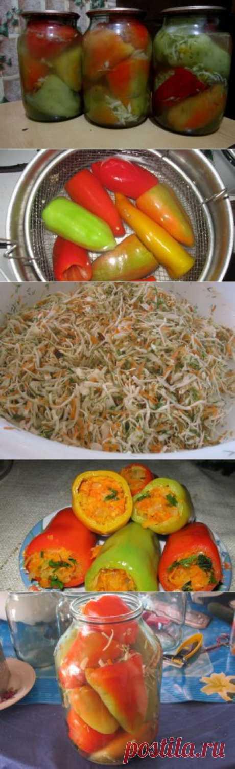 Фаршированный перец на зиму / Заготовка перцев / TVCook: пошаговые рецепты c фото