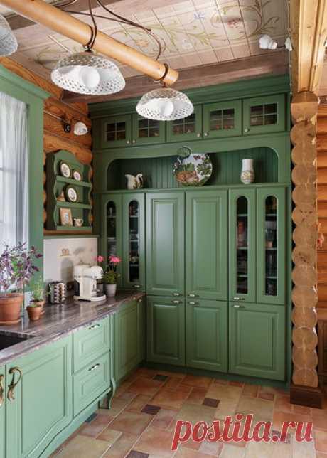 Интерьер кухни в деревенском доме (16 фото), дизайн кухни в деревенском доме