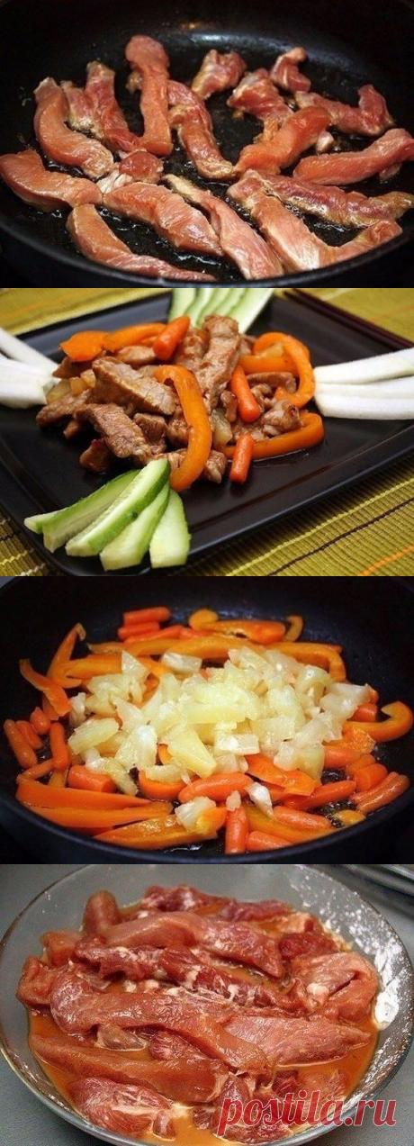 Свининa по-китайски — Кулинария: лучшие рецепты пошагово