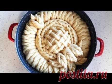 Празнична питка с цветя اروع طريقة لعمل المعجنات  Easy way to make the best pastry