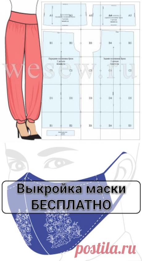Бесплатная выкройка летних брюк