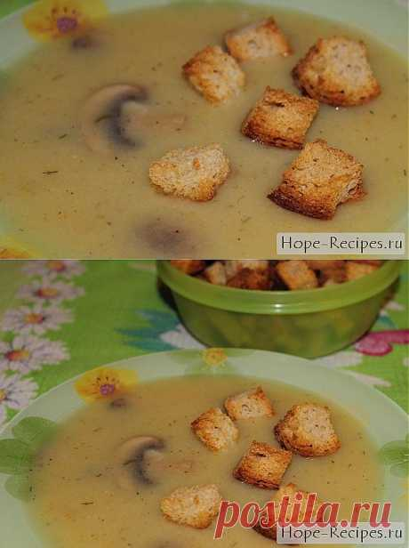 Картофельный суп-пюре с грибами © Кулинарный блог #Рецепты Надежды