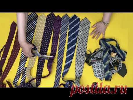 Сумка из галстуков. Причина, по которой нельзя выбрасывать старый галстук