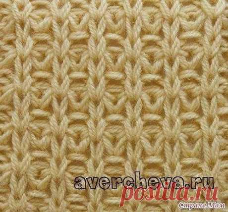 Красивый узор спицами для вязания плотных вещей — DIYIdeas