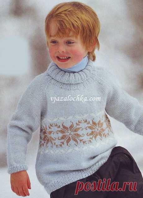 поиск на постиле свитер для мальчика спицами