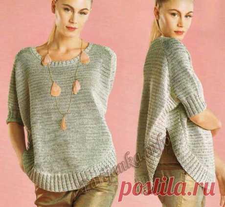 Пуловер-пончо (ж) 03*88 Phildar