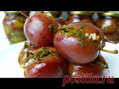 Маринованные сливы с чесноком и зеленью. Цыганка готовит. Gipsy cuisine.