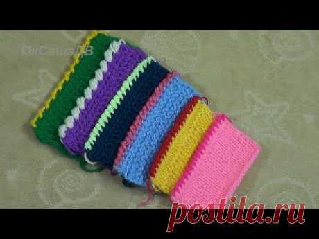 """Рачий шаг"" - 6 способов в одном видео. Tying crochet edge."