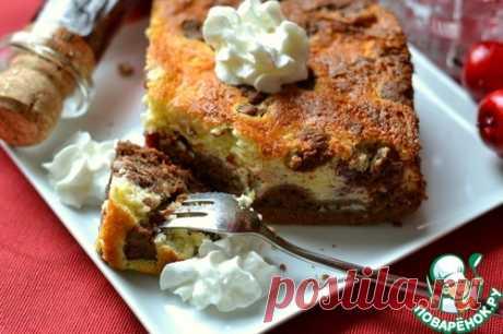 Пирог с творогом и вишней - кулинарный рецепт