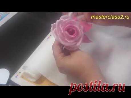 Роза из шелка. Часть 1 - Цветы из ткани