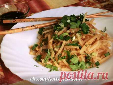 Салат Камди-Ча  Ингредиенты: 4-5шт. картофеля 2 репчатых лука Показать полностью…