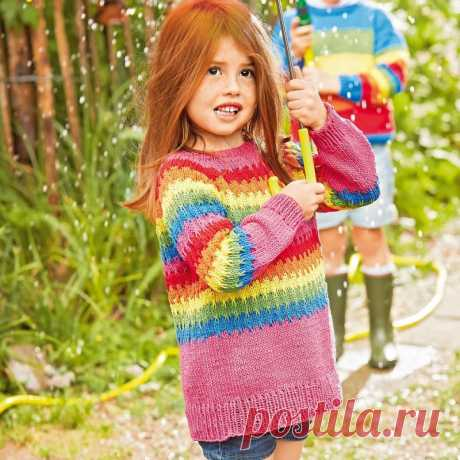 Вяжем веселенький детский джемпер из категории Интересные идеи – Вязаные идеи, идеи для вязания