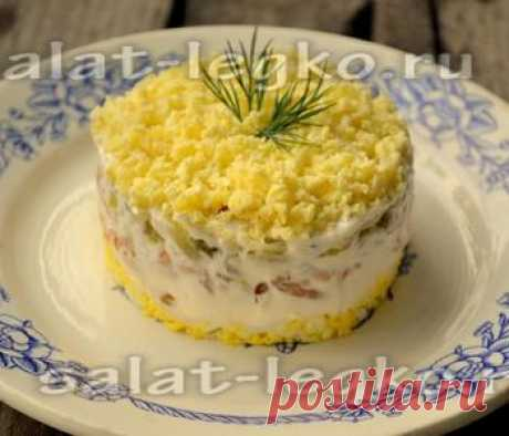 Салат с брюшками сёмги, яйцом и маринованным огурцом  Салат с брюшками сёмги, яйцом и маринованным огурцом Предлагаю довольно сытный салат с семгой и маринованными огурцами. Рецепт с фото поможет вам приготовить очень вкусный и нежный рыбный салатик. Ре…