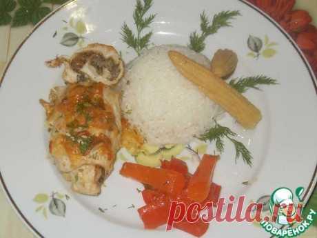 Куриные рулетики с грибной икрой – кулинарный рецепт