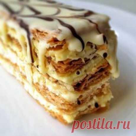 """Рецепт: Торт """"Мильфей""""  с заварным кремом.  Великолепный вкус!"""