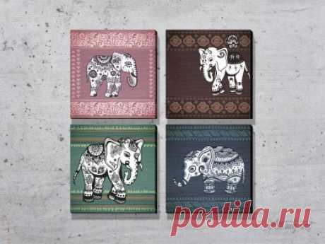 Модульные картины со слонами. #картина #модульнаякартина #декор #интерьер #дизайнинтерьера #уют #атмосфера