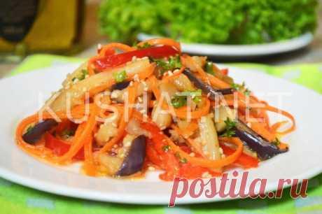 Баклажаны по-корейски с морковью и перцем. Рецепт с пошаговыми фото • Кушать нет