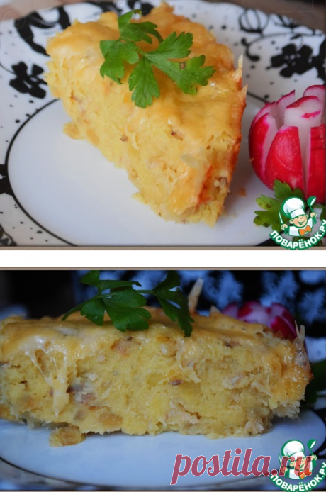 """Картофельная запеканка """"Розовый фламинго"""" - кулинарный рецепт"""