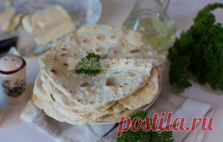 Лаваш на кефире на сковороде - тесто без дрожжей своими руками, рецепт с пошаговыми фото   Все Блюда