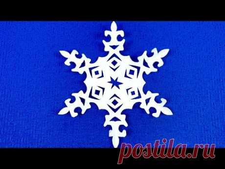 DIY.Как просто вырезать красивую снежинку. Простые снежинки. SNOWFLAKE #снежинкиизбумаги #Snowflakes